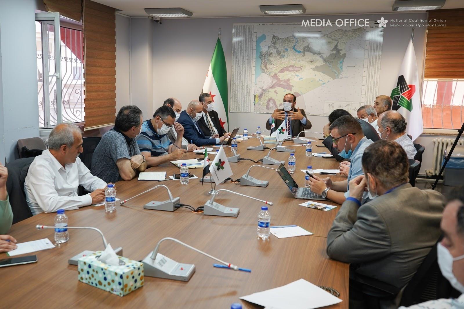 الهيئة السياسية للائتلاف تعتمد التشكيلة الجديدة للدوائر واللجان وتناقش خطط عملها