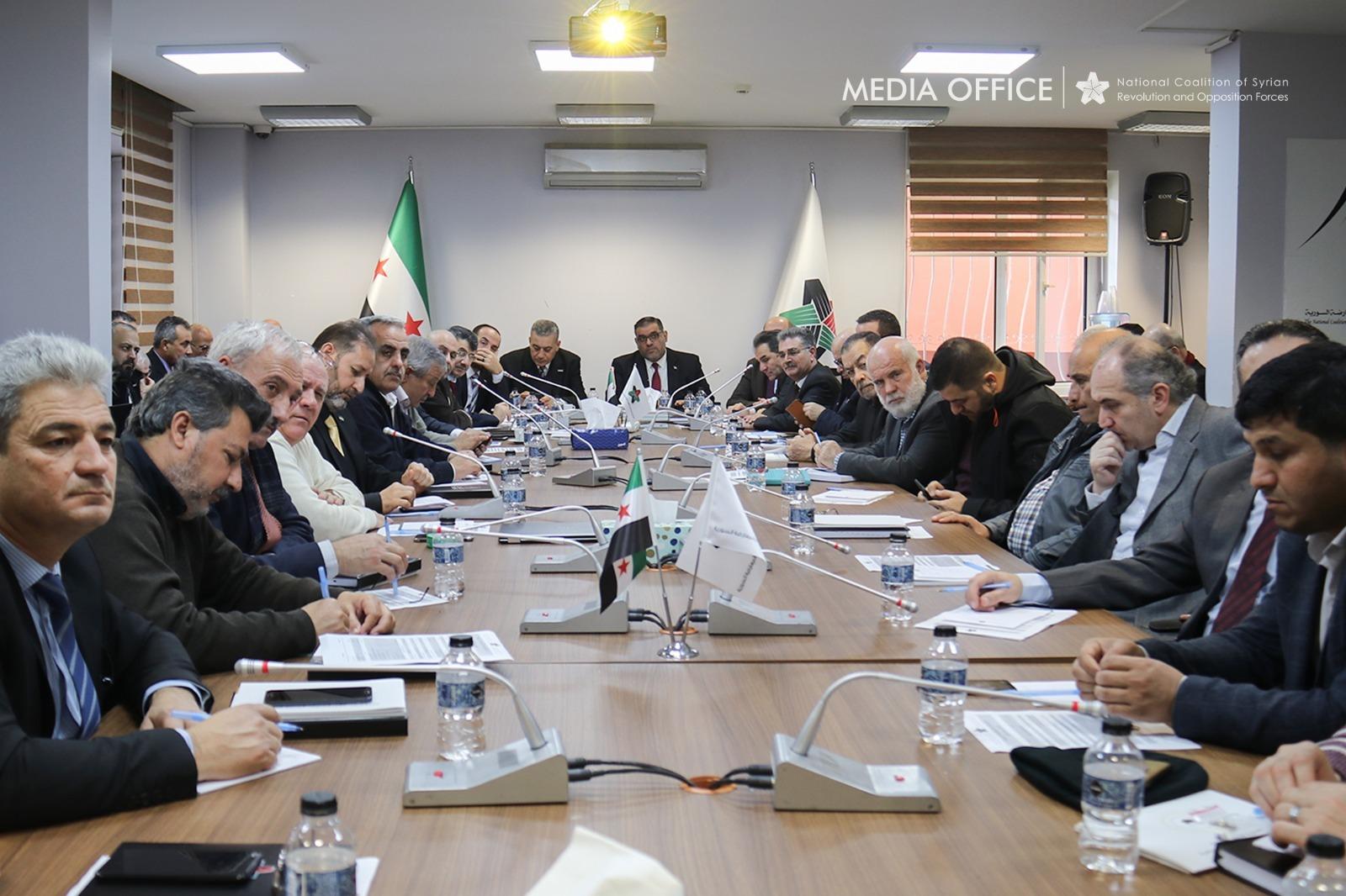 انطلاق اجتماعات الهيئة العامة للائتلاف الوطني والتركيز على الوضع الإنساني والعسكري في إدلب